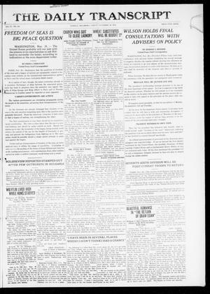 Primary view of object titled 'The Daily Transcript  (Norman, Okla.), Vol. 6, No. 211, Ed. 1 Friday, November 29, 1918'.