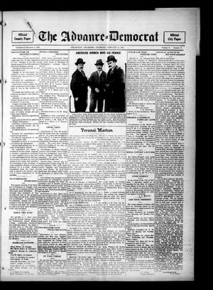 Primary view of object titled 'The Advance--Democrat (Stillwater, Okla.), Vol. 24, No. 26, Ed. 1 Thursday, February 24, 1916'.