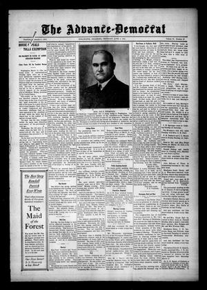 Primary view of object titled 'The Advance--Democrat (Stillwater, Okla.), Vol. 23, No. 29, Ed. 1 Thursday, April 2, 1914'.