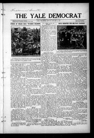 Primary view of object titled 'The Yale Democrat (Yale, Okla.), Vol. 12, No. 59, Ed. 1 Monday, January 12, 1920'.