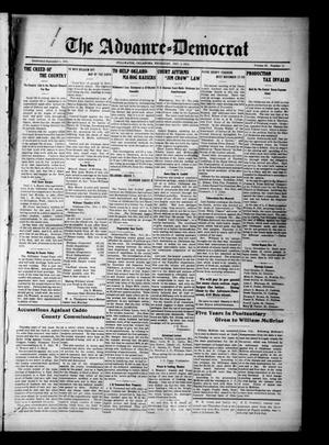 Primary view of object titled 'The Advance--Democrat (Stillwater, Okla.), Vol. 23, No. 14, Ed. 1 Thursday, December 3, 1914'.