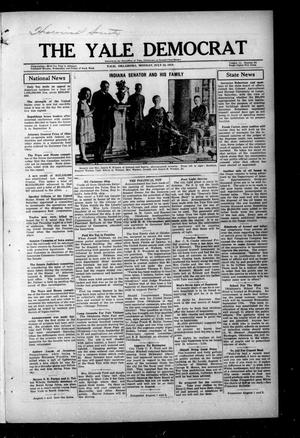 Primary view of object titled 'The Yale Democrat (Yale, Okla.), Vol. 11, No. 86, Ed. 1 Monday, July 28, 1919'.