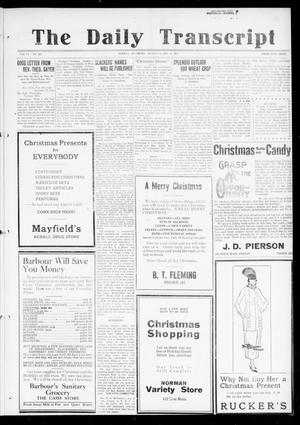 Primary view of object titled 'The Daily Transcript  (Norman, Okla.), Vol. 6, No. 227, Ed. 1 Thursday, December 19, 1918'.