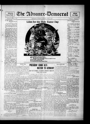 Primary view of object titled 'The Advance--Democrat (Stillwater, Okla.), Vol. 24, No. 34, Ed. 1 Thursday, April 20, 1916'.