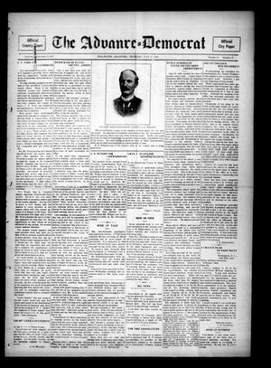 Primary view of object titled 'The Advance--Democrat (Stillwater, Okla.), Vol. 24, No. 48, Ed. 1 Thursday, July 27, 1916'.