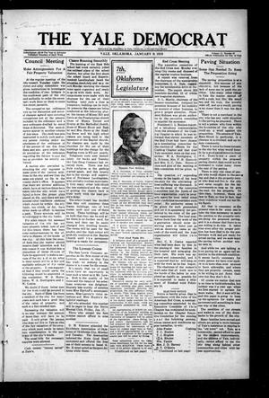 Primary view of object titled 'The Yale Democrat (Yale, Okla.), Vol. 11, No. 21, Ed. 1 Thursday, January 9, 1919'.