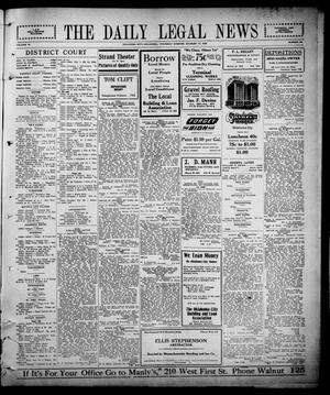 Primary view of object titled 'The Daily Legal News (Oklahoma City, Okla.), Vol. 12, No. 297, Ed. 1 Thursday, August 17, 1916'.