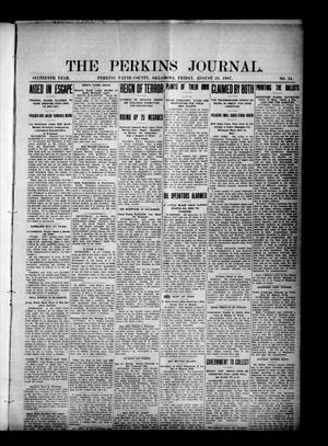 Primary view of object titled 'The Perkins Journal. (Perkins, Okla.), Vol. 16, No. 34, Ed. 1 Friday, August 23, 1907'.