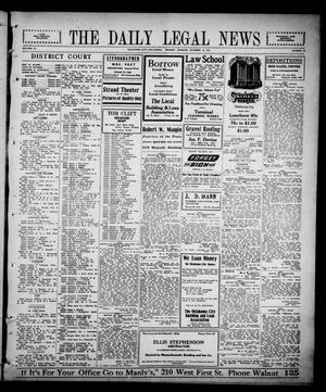 Primary view of object titled 'The Daily Legal News (Oklahoma City, Okla.), Vol. 13, No. 52, Ed. 1 Monday, October 9, 1916'.