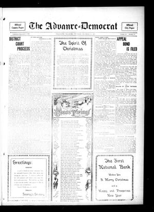 Primary view of object titled 'The Advance--Democrat (Stillwater, Okla.), Vol. 25, No. 18, Ed. 1 Thursday, December 14, 1916'.