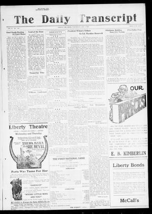 Primary view of object titled 'The Daily Transcript  (Norman, Okla.), Vol. 6, No. 242, Ed. 1 Wednesday, January 8, 1919'.