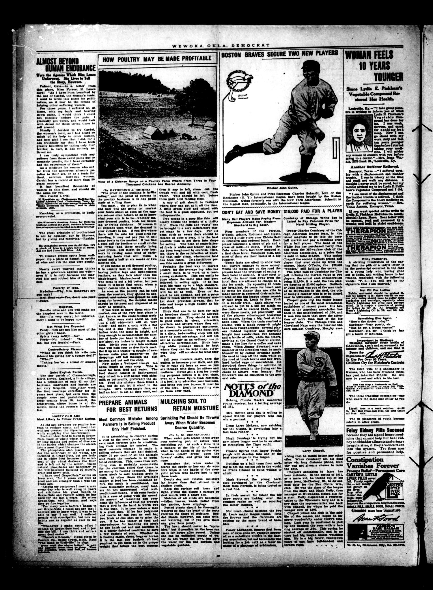 Wewoka Democrat (Wewoka, Okla.), Vol. 6, No. 50, Ed. 1 Thursday, September 25, 1913                                                                                                      [Sequence #]: 2 of 8