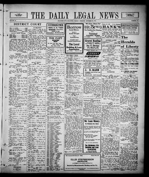 Primary view of object titled 'The Daily Legal News (Oklahoma City, Okla.), Vol. 13, No. 62, Ed. 1 Friday, October 20, 1916'.