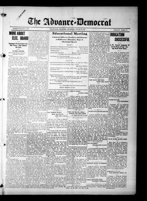 Primary view of object titled 'The Advance--Democrat (Stillwater, Okla.), Vol. 23, No. 52, Ed. 1 Thursday, August 26, 1915'.