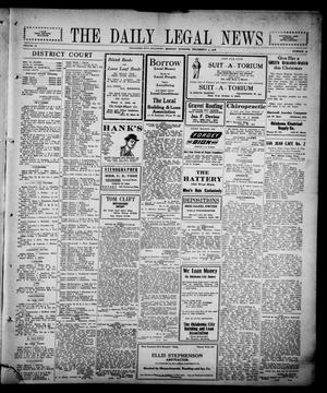 Primary view of object titled 'The Daily Legal News (Oklahoma City, Okla.), Vol. 13, No. 98, Ed. 1 Monday, December 4, 1916'.