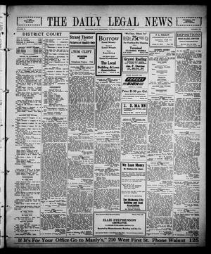 Primary view of object titled 'The Daily Legal News (Oklahoma City, Okla.), Vol. 12, No. 279, Ed. 1 Thursday, July 27, 1916'.
