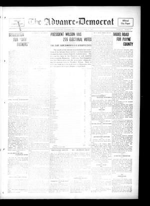 Primary view of object titled 'The Advance--Democrat (Stillwater, Okla.), Vol. 25, No. 14, Ed. 1 Thursday, November 16, 1916'.