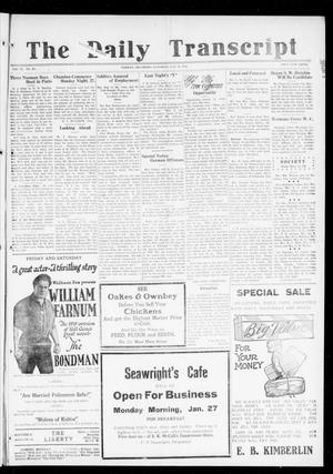 The Daily Transcript  (Norman, Okla.), Vol. 6, No. 257, Ed. 1 Saturday, January 25, 1919