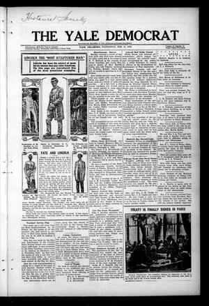 Primary view of object titled 'The Yale Democrat (Yale, Okla.), Vol. 12, No. 72, Ed. 1 Wednesday, February 11, 1920'.