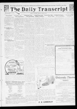 Primary view of object titled 'The Daily Transcript  (Norman, Okla.), Vol. 6, No. 297, Ed. 1 Thursday, March 13, 1919'.