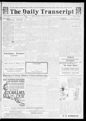Primary view of object titled 'The Daily Transcript  (Norman, Okla.), Vol. 6, No. 299, Ed. 1 Saturday, March 15, 1919'.