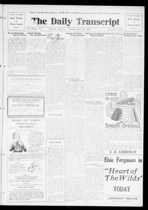 Primary view of object titled 'The Daily Transcript  (Norman, Okla.), Vol. 6, No. 307, Ed. 1 Tuesday, March 25, 1919'.