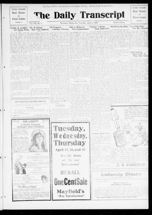 Primary view of object titled 'The Daily Transcript  (Norman, Okla.), Vol. 7, No. 7, Ed. 1 Tuesday, April 8, 1919'.