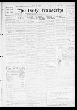 Primary view of object titled 'The Daily Transcript  (Norman, Okla.), Vol. 7, No. 8, Ed. 1 Wednesday, April 9, 1919'.