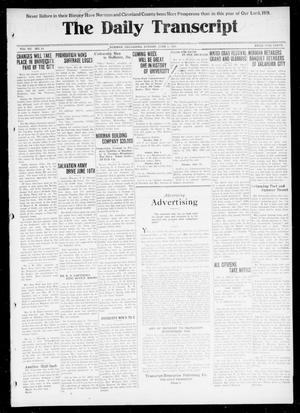 Primary view of object titled 'The Daily Transcript  (Norman, Okla.), Vol. 7, No. 53, Ed. 1 Sunday, June 1, 1919'.