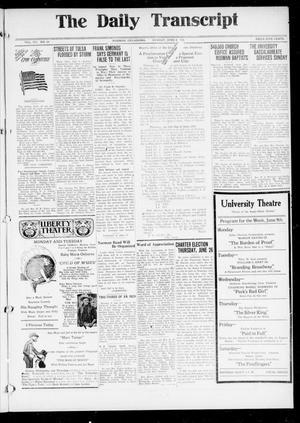 Primary view of The Daily Transcript  (Norman, Okla.), Vol. 7, No. 59, Ed. 1 Sunday, June 8, 1919