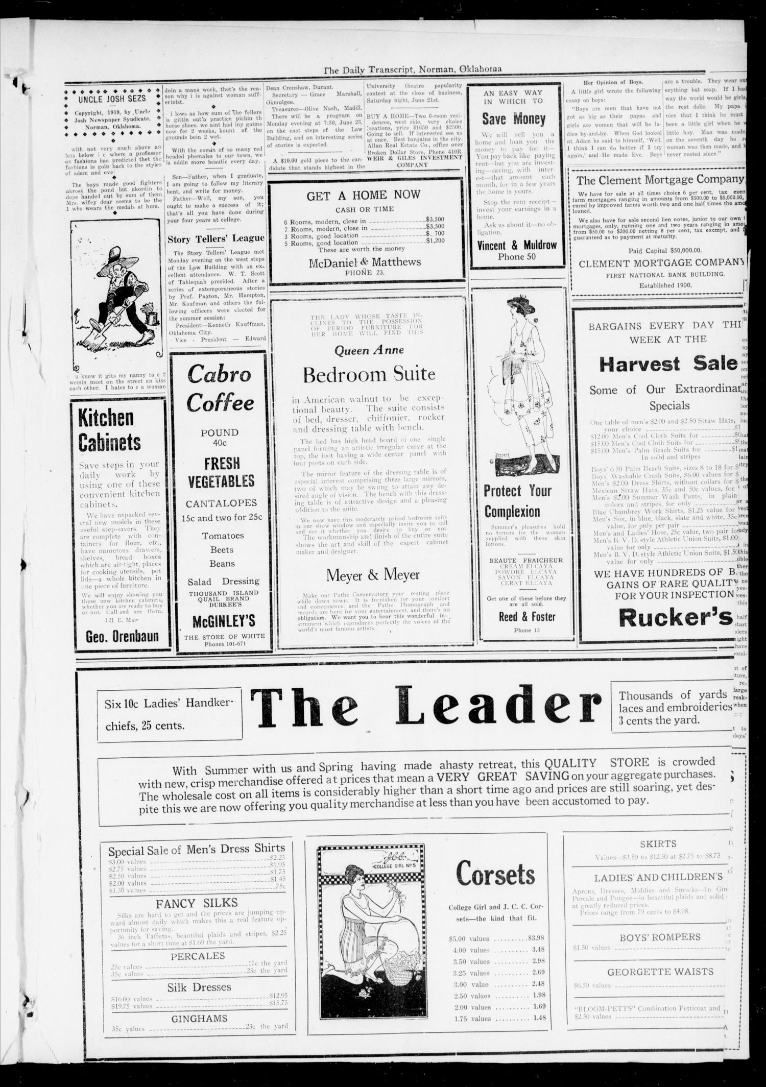 The Daily Transcript  (Norman, Okla.), Vol. 7, No. 67, Ed. 1 Tuesday, June 17, 1919                                                                                                      [Sequence #]: 3 of 4