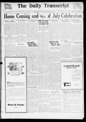 Primary view of object titled 'The Daily Transcript  (Norman, Okla.), Vol. 7, No. 71, Ed. 1 Sunday, June 22, 1919'.