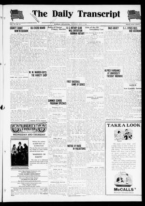 Primary view of object titled 'The Daily Transcript  (Norman, Okla.), Vol. 7, No. 92, Ed. 1 Thursday, July 17, 1919'.