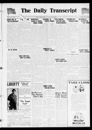 Primary view of object titled 'The Daily Transcript  (Norman, Okla.), Vol. 7, No. 93, Ed. 1 Friday, July 18, 1919'.