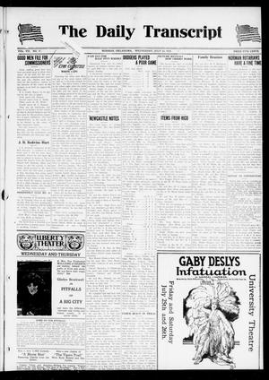 Primary view of object titled 'The Daily Transcript  (Norman, Okla.), Vol. 7, No. 97, Ed. 1 Wednesday, July 23, 1919'.
