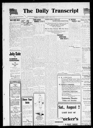 The Daily Transcript  (Norman, Okla.), Vol. 7, No. 105, Ed. 1 Friday, August 1, 1919