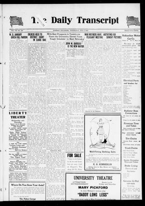 The Daily Transcript  (Norman, Okla.), Vol. 7, No. 109, Ed. 1 Wednesday, August 6, 1919