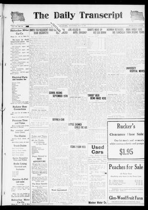 Primary view of object titled 'The Daily Transcript  (Norman, Okla.), Vol. 7, No. 115, Ed. 1 Wednesday, August 13, 1919'.
