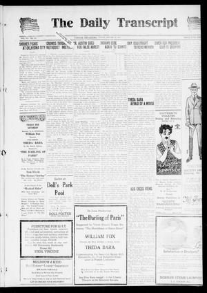 Primary view of object titled 'The Daily Transcript  (Norman, Okla.), Vol. 7, No. 123, Ed. 1 Friday, August 22, 1919'.