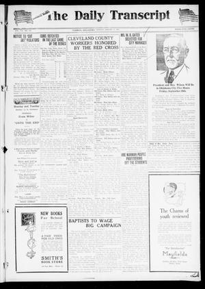 Primary view of object titled 'The Daily Transcript  (Norman, Okla.), Vol. 7, No. 129, Ed. 1 Sunday, August 31, 1919'.