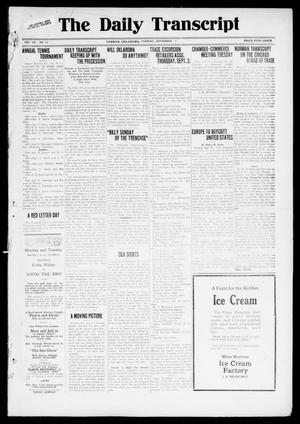 Primary view of object titled 'The Daily Transcript  (Norman, Okla.), Vol. 7, No. 130, Ed. 1 Tuesday, September 2, 1919'.