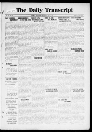 Primary view of object titled 'The Daily Transcript  (Norman, Okla.), Vol. 7, No. 131, Ed. 1 Wednesday, September 3, 1919'.