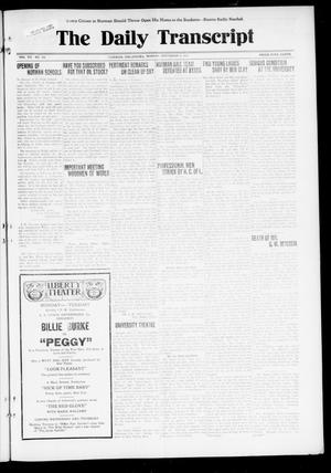 Primary view of object titled 'The Daily Transcript  (Norman, Okla.), Vol. 7, No. 135, Ed. 1 Monday, September 8, 1919'.