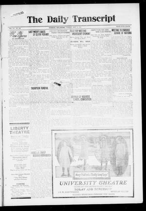 Primary view of object titled 'The Daily Transcript  (Norman, Okla.), Vol. 7, No. 148, Ed. 1 Tuesday, September 23, 1919'.