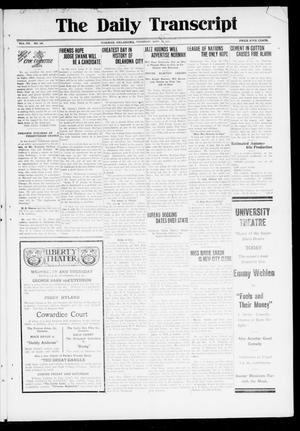 Primary view of object titled 'The Daily Transcript  (Norman, Okla.), Vol. 7, No. 150, Ed. 1 Thursday, September 25, 1919'.