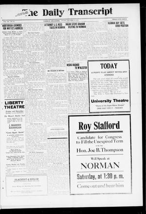 The Daily Transcript  (Norman, Okla.), Vol. 7, No. 163, Ed. 1 Friday, October 10, 1919
