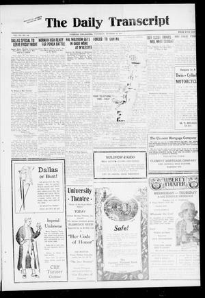 Primary view of object titled 'The Daily Transcript  (Norman, Okla.), Vol. 7, No. 168, Ed. 1 Thursday, October 16, 1919'.