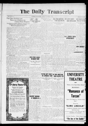 Primary view of object titled 'The Daily Transcript  (Norman, Okla.), Vol. 7, No. 177, Ed. 1 Monday, October 27, 1919'.
