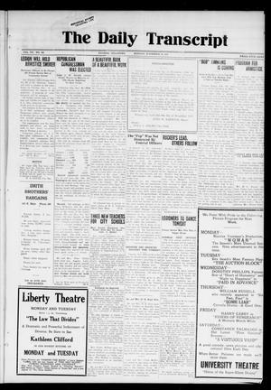 The Daily Transcript  (Norman, Okla.), Vol. 7, No. 189, Ed. 1 Monday, November 10, 1919