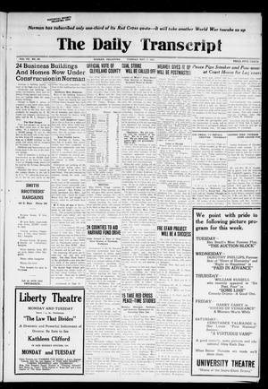 The Daily Transcript  (Norman, Okla.), Vol. 7, No. 190, Ed. 1 Tuesday, November 11, 1919